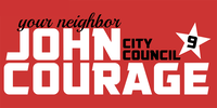 Re-elect John Courage for District 9
